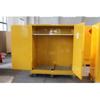 1.0mm galvanized Steel Horizontal Inflammable Flammable Storage Cabinet 2 Manual Close Doors Chemical Liquid