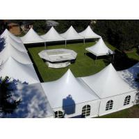 China Rainproof High Peak Tent With Decorations , Air Conditioned Tent For Wedding on sale