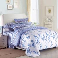 Buy cheap Purple Colorem Broidered Flower Home Bedding Sets Tencel Duvet Cover / Sheet Set from wholesalers