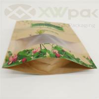 China Recycle stand up pouch zip lock dried biodegradable kraft paper bag food packaging bag wholesale