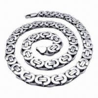 China Stainless Steel Necklace with Germanium Negative Ion, 2013 Bio Magnetic Healthcare Necklace wholesale