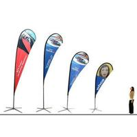 Quality Polyester Promotional Feather Flags Advertising exhibition event outdoor Flying Beach for sale
