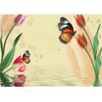 Quality Simple Butterfly Flowers Bamboo Fiber Products Insulation and Energy Saving for sale