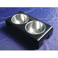 Quality Rectangle 8mm Ruby Acrylic Pet Bowl Food Feeder For Dog , Cat OEM for sale