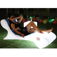 Waterproof Plastic LED Lounge Chair For Pool With Infrared Remote Control