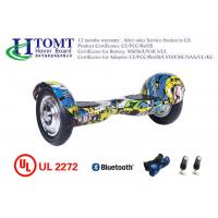 China factory wholesale smart balance 2 wheel hoverboard with bluetooth graffiti yellow