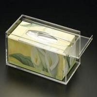 Quality 25cm * 15cm * 9cm Acrylic Tissue Box Holder With Customize Logo for sale