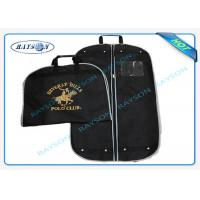 China Black ECO Friendly Non Woven Suit Cover With Zipper And Handle Garment Bag wholesale