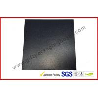 Quality HI Glossy Leather paper lid and base box with black / grey FOAM inner for sale