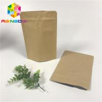 China Aluminum Foil Stand Up Pouch Bags , Ziplock Stand Up Pouches Gravure Printing With Valve wholesale