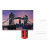 China Tourist Souvenir 3D Lenticular Postcard London Landscape 5x7 Inches wholesale