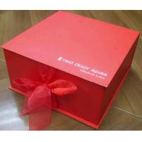 China Top Grade Folding Cardboard Paper Box Red Square For Gift Packaging wholesale