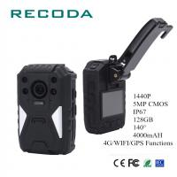 China Shock Proof IP67 Police Officers Wearing Body Cameras Real Time Monitor GPS HD 1440P wholesale