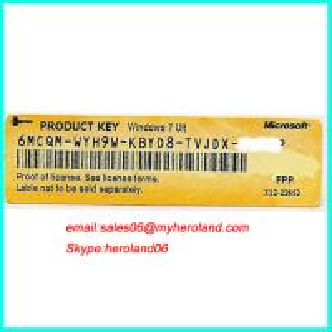 China Free Shipping Windows 7 Ultimate Product Key License (X12),OEM Key License on sale