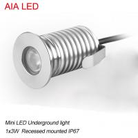 China modern AIA LED  1x3W DC12V waterproof IP67 outdoor LED spot light/ led underground light wholesale