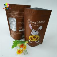 Quality Aluminum Ziplock Snack Bag Packaging Gravure Printing For Chocolate / Protein for sale