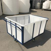 China K400 Heavy duty durable Rotationally Moulded 400 Litre Linen Trolley for textile industrial wholesale