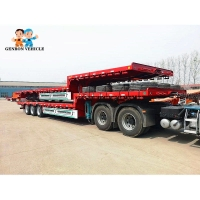 China 40T Bulk Cargo Detachable BPW Heavy Duty Low Bed Trailers on sale