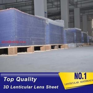 China 3D injekt print 75LPI 0.45mm Lenticular Lens Sheet material with good Lenticular Printing Effect wholesale