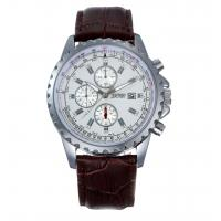 Quality Customized Logo Analog Automatic Quartz Watches With Genuine Leather Strap for sale