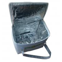 China High end Reusable White Nylon Thermal Insulated Bags With Aluminum Foil And White Zipper wholesale