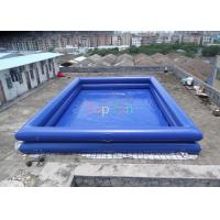 China 12 x 8 x 1.3 m Double wall tube PVC tarpaulin Inflatable Swimming Pools Above Ground for Amusement on sale