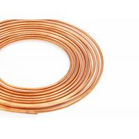 China Smooth Surface Thin Copper Pipe , Soft Pancake Refrigeration Copper Tubing on sale