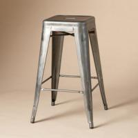 China Backless Metal Tolix Cafe Barstool / Fast Food Restaurant Furniture 440 X 440 X 750 mm wholesale