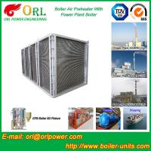 China High Pressure Water Tube Boiler Air Preheater Vertical TUV Certification wholesale