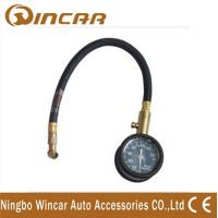 China Black Vibration proof dial auto tire Digital Tire Pressure Gauge with hose wholesale
