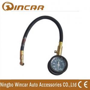 China Black Vibration proof dial auto tire Digital Tire Pressure Gauge with hose wholesale