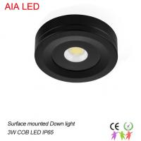 China Black 3W waterproof IP65 indoor LED spot light/led down light& led down light for cabinet used wholesale