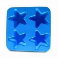 China Silicone Ice Cube Tray in Star Shape, Made of 100% Food-Grade Silicone, Passed SGS/FDA/LFGB Test wholesale