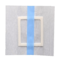 China Medical waterproof transparent wound dressing adhesive pad silicone wound dressing border wholesale