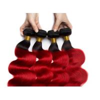 Quality Queen Life 1B / Red Color Brazilian Body Wave Hair 3 Bundles With Closure for sale