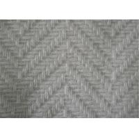 China 57/58 Inch Herringbone Tweed Fabric Anti Static With Skin Friendly Material wholesale