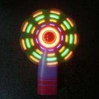 China Flashing LED Fan, Made of Plastic, Powered by Three AAA Batteries wholesale