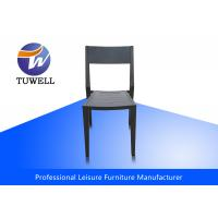 China Armless Rustproof Steel Dining Chairs With Back Smoothly Polished wholesale