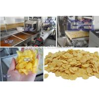 Puffing extruder corn flakes cereal snack food extruding machines maker China supplier Jinan