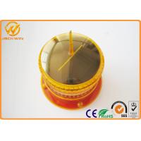 China Amber 8PCS LED Flashing Solar Warning Light With Bike , 1500m isible Distance wholesale