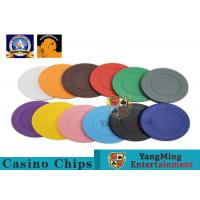 Lightweight ABS Hotstamping Logo Dice Poker Chip / Colorful Roulette Poker Chips for sale