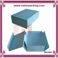 China Art paper blue shoe box, folding paper gift box, flat pack paper gift box ME-FD003 on sale