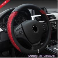 China Colorful black grey beige red Amaon hot sell car steering wheel cover from China supplier wholesale