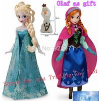 China Elsa doll Anna doll 11.5 Inch boneca Elsa and Anna with small Olaf gift, Elsa Anna Girl Gi wholesale