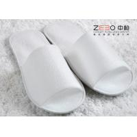 China Home Hotel Disposable Slippers / Waffle Spa Slippers Open Toe Style wholesale