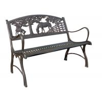 China Painting Ornamental Iron Accessories / Outdoor Furniture Cast Iron Park Bench wholesale
