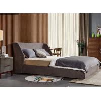China Durable Double Upholstered Bed , Home Furniture Fabric Bed Frame General Use on sale