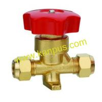 Buy cheap Refrigeration Flare type brass hand valve (shut off valve) from wholesalers