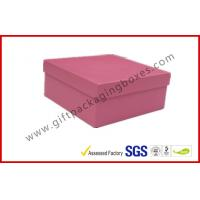 China Rigid Luxury Pink Gift Boxes Matt Lamination , jewelry gift boxes wholesale
