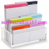 China Hot selling in America durable transparent table top acrylic memo holder wholesale